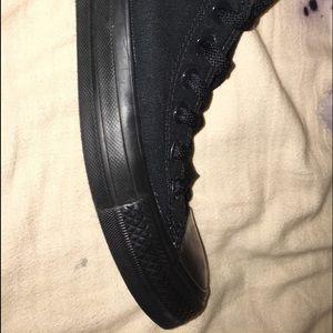 All Black Converse